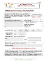 Autorisation de prélèvement bancaire
